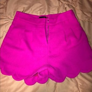 High Waisted Hot Pink Shorts - LAST CHANCE!!
